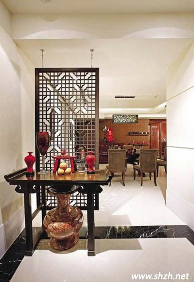 中式实木镂空雕花隔断 打造艺术居家氛围